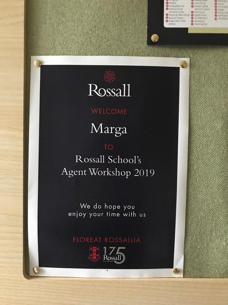 Workshop Rossall Colegio Inglaterra
